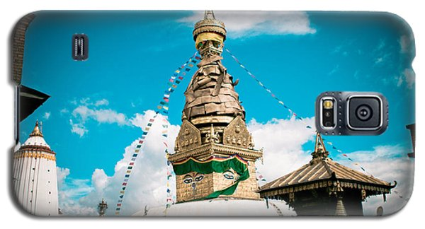 Galaxy S5 Case featuring the photograph Swayambhunath Stupa In Nepal by Raimond Klavins