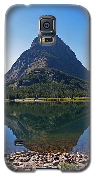 Galaxy S5 Case featuring the photograph Swiftcurrent  Lake Many Glacier by Joseph J Stevens