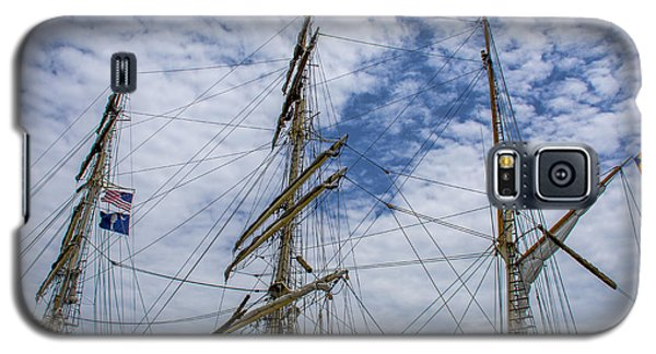 Tall Ship Three Mast  Galaxy S5 Case by Dale Powell
