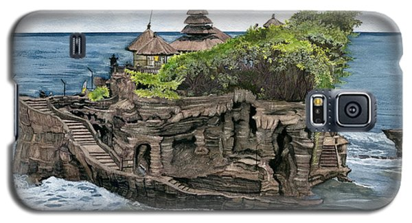 Galaxy S5 Case featuring the painting Tanah Lot Temple Bali Indonesia by Melly Terpening