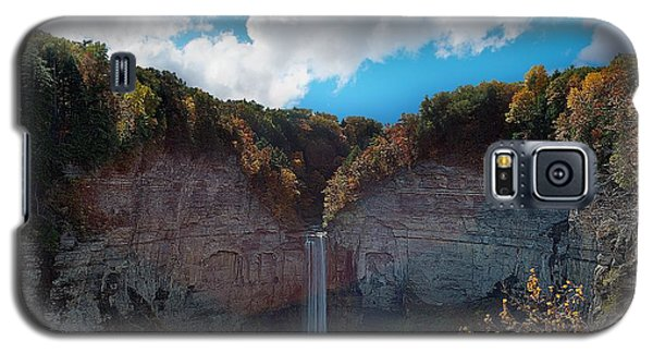 Galaxy S5 Case featuring the photograph Taughannock Falls Ithaca New York by Paul Ge