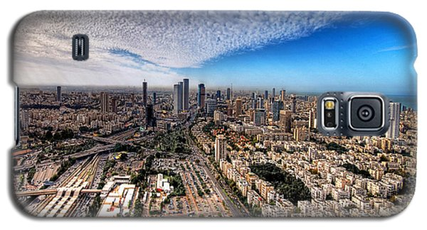 Tel Aviv Skyline Galaxy S5 Case by Ron Shoshani