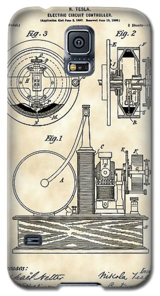Tesla Electric Circuit Controller Patent 1897 - Vintage Galaxy S5 Case by Stephen Younts