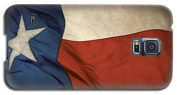 Rustic Texas Flag  Galaxy S5 Case by David and Carol Kelly