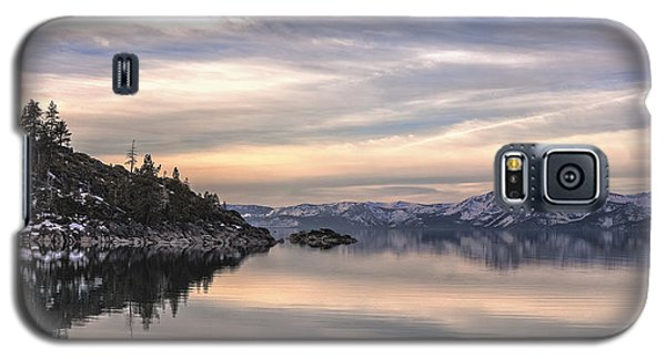 Galaxy S5 Case featuring the photograph The Calm After Dawn by Nancy Marie Ricketts