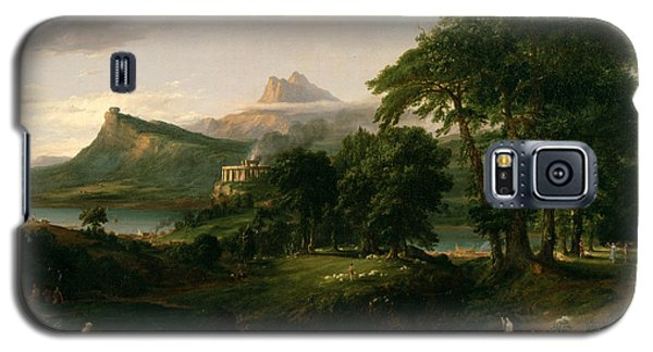 The Course Of Empire The Arcadian Or Pastoral State Galaxy S5 Case by Thomas Cole