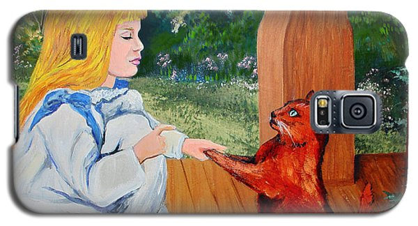 Galaxy S5 Case featuring the painting The Dance Lesson by Karon Melillo DeVega