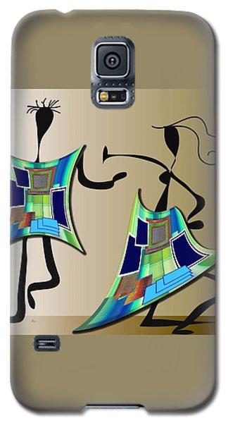 Galaxy S5 Case featuring the digital art The Dancers by Iris Gelbart