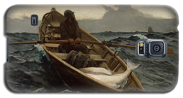 Galaxy S5 Case featuring the photograph The Fog Warning by Winslow Homer