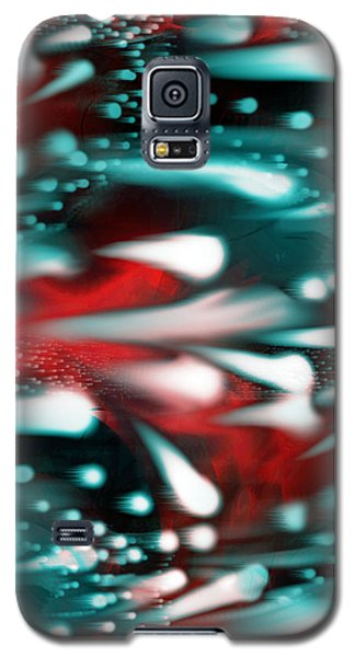 Galaxy S5 Case featuring the painting The Race  by Yul Olaivar