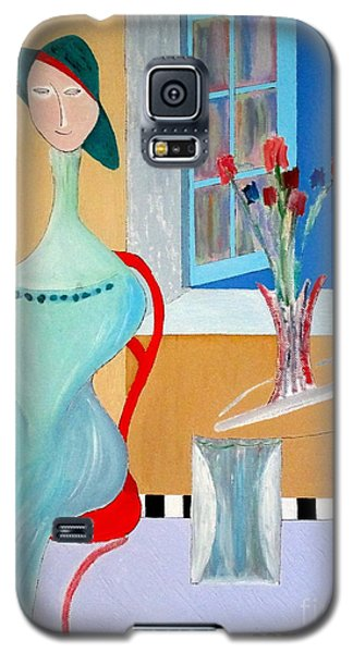 Galaxy S5 Case featuring the painting The Red Chair by Bill OConnor