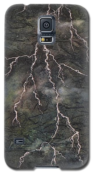Galaxy S5 Case featuring the painting The Storm by Chrisann Ellis