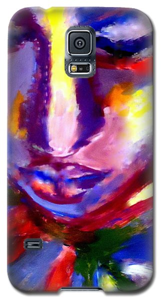 Galaxy S5 Case featuring the painting The Universe And Me by Helena Wierzbicki
