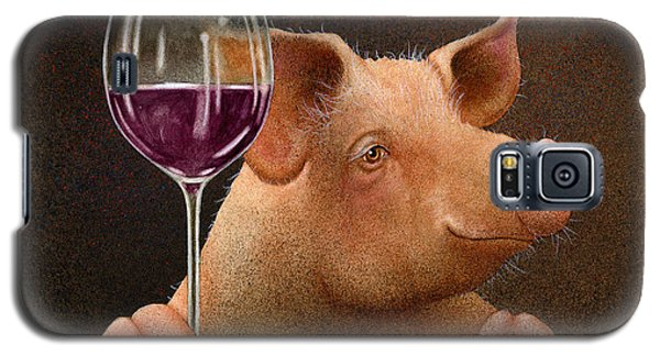 Galaxy S5 Case featuring the painting This Little Piggy Went Wine Tasting... by Will Bullas