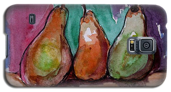 Galaxy S5 Case featuring the painting Three Pears by Patricia Januszkiewicz