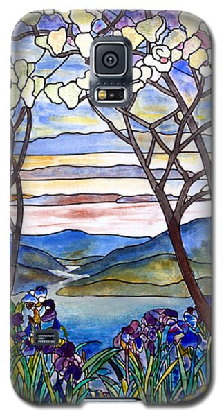 Stained Glass Tiffany Frank Memorial Window Galaxy S5 Case by Donna Walsh