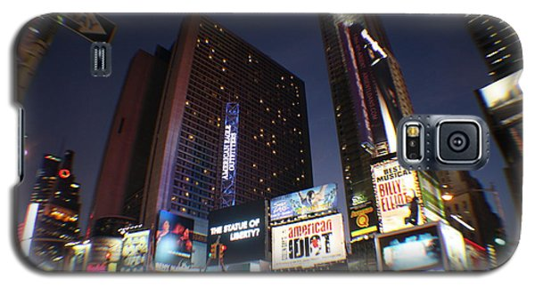 Galaxy S5 Case featuring the photograph Times Square Nyc by Rogerio Mariani