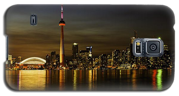 Toronto Evening Sky Line Panorama Galaxy S5 Case by Peter v Quenter