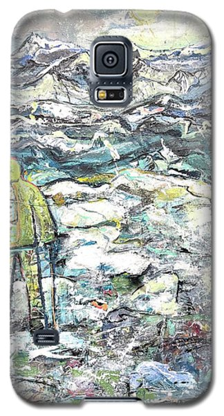 Galaxy S5 Case featuring the painting Tranquility by Evelina Popilian
