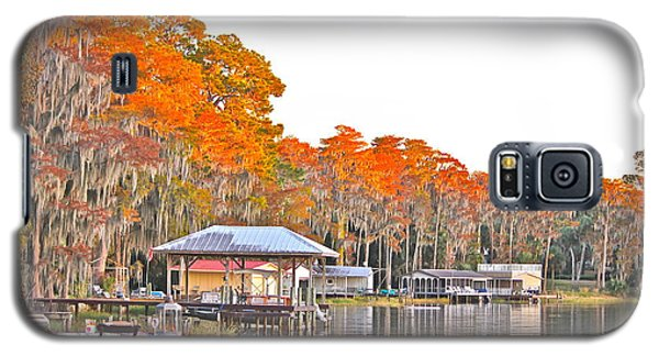 Galaxy S5 Case featuring the photograph Trees By The Lake by Cyril Maza