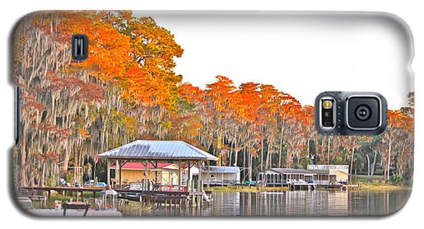 Trees By The Lake Galaxy S5 Case by Cyril Maza