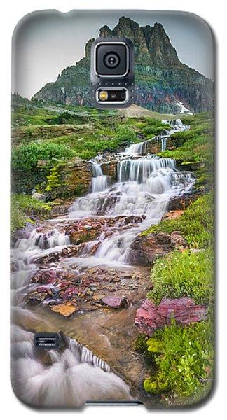 Triple Falls Stream Glacier National Park Galaxy S5 Case