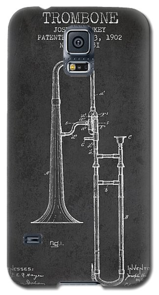 Trombone Patent From 1902 - Dark Galaxy S5 Case by Aged Pixel