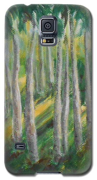 Galaxy S5 Case featuring the painting Tropical by Jane  See