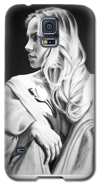 Galaxy S5 Case featuring the painting Tulip by Joseph Ogle
