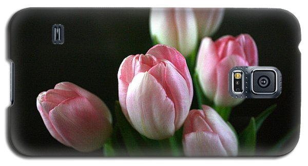 Galaxy S5 Case featuring the photograph Tulips On Display by Cathy Dee Janes