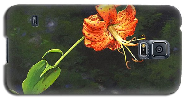 Galaxy S5 Case featuring the painting Turk's Cap by Bob  George