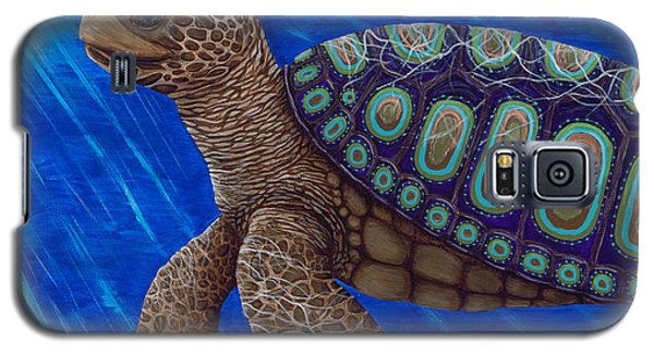 Turtle Painting Bomber Triptych 2 Galaxy S5 Case