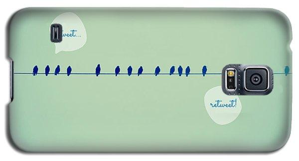 Tweeting Galaxy S5 Case by Robin Dickinson