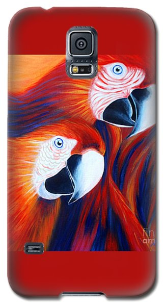 Two Parrots. Inspirations Collection. Galaxy S5 Case by Oksana Semenchenko