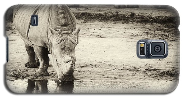 Galaxy S5 Case featuring the photograph Two White Rhinos  by Nick  Biemans