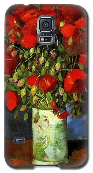 Vase With Red Poppies Galaxy S5 Case