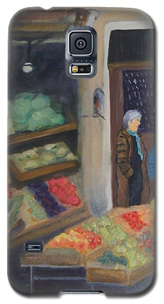 Galaxy S5 Case featuring the painting Venice Fruit Market by Kristine Bogdanovich