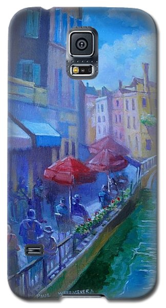 Galaxy S5 Case featuring the painting Venice  Italy by Paul Weerasekera