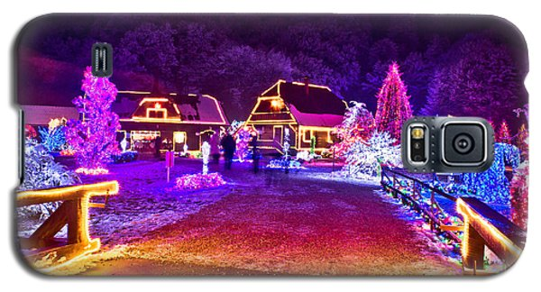 Village In Colorful Christmas Lights  Galaxy S5 Case by Brch Photography