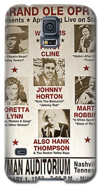 Vintage 1953 Grand Ole Opry Poster Galaxy S5 Case