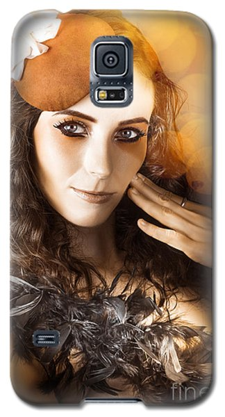 Vintage Style Actress Performing In French Beret Galaxy S5 Case by Jorgo Photography - Wall Art Gallery
