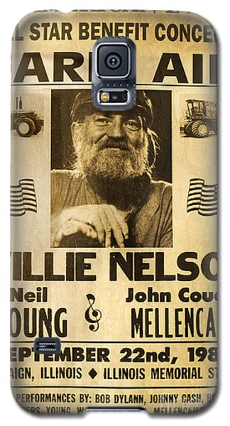 Vintage Willie Nelson 1985 Farm Aid Poster Galaxy S5 Case