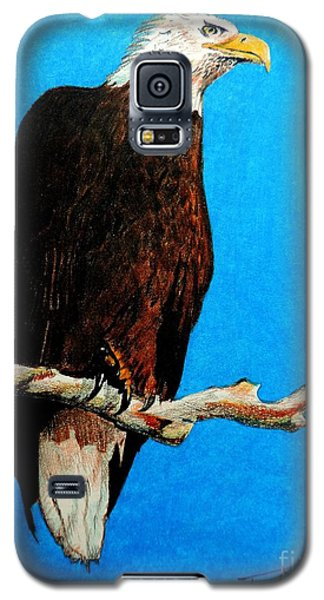 Galaxy S5 Case featuring the painting Watchful Eye by Tom Riggs
