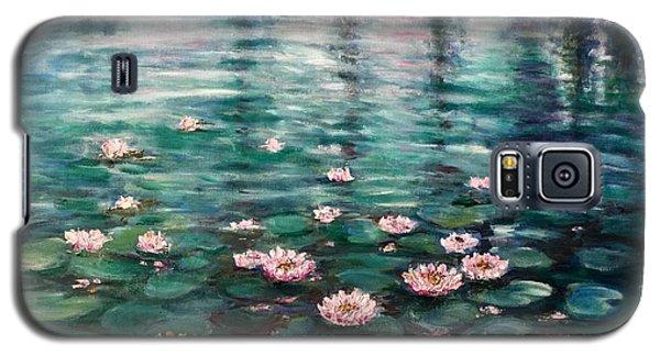 Water Lilies Galaxy S5 Case by Laila Awad Jamaleldin