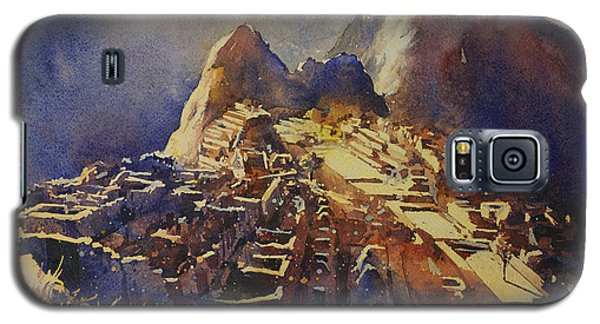 Watercolor Painting Machu Picchu Peru Galaxy S5 Case