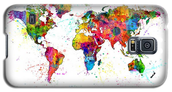 Planets Galaxy S5 Case - Watercolor Political Map Of The World by Michael Tompsett