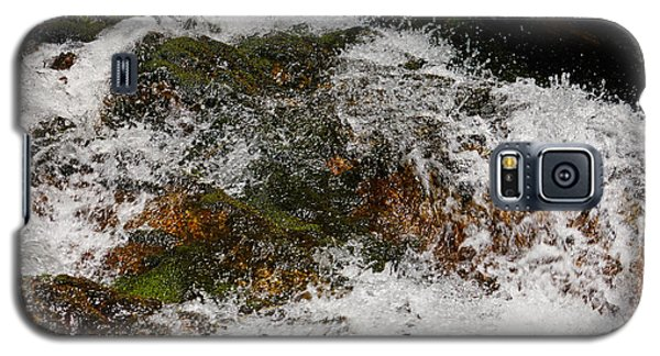 Galaxy S5 Case featuring the photograph Waterfall And Rocks by Nick  Biemans