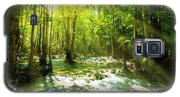 Waterfall In Rainforest Galaxy S5 Case