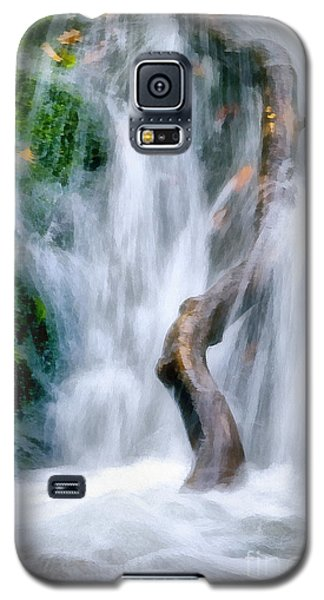 Waterfall Painting Galaxy S5 Case by Odon Czintos