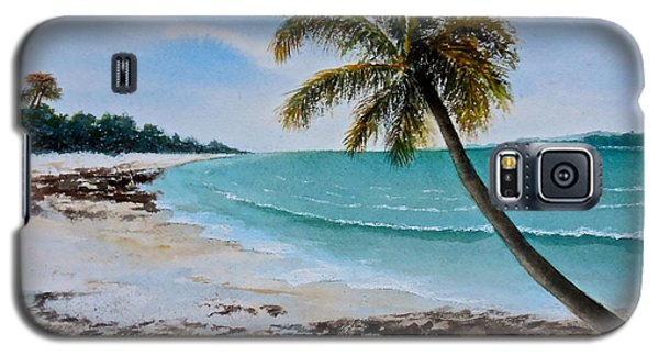 Galaxy S5 Case featuring the painting West Of Zanzibar by Sher Nasser
